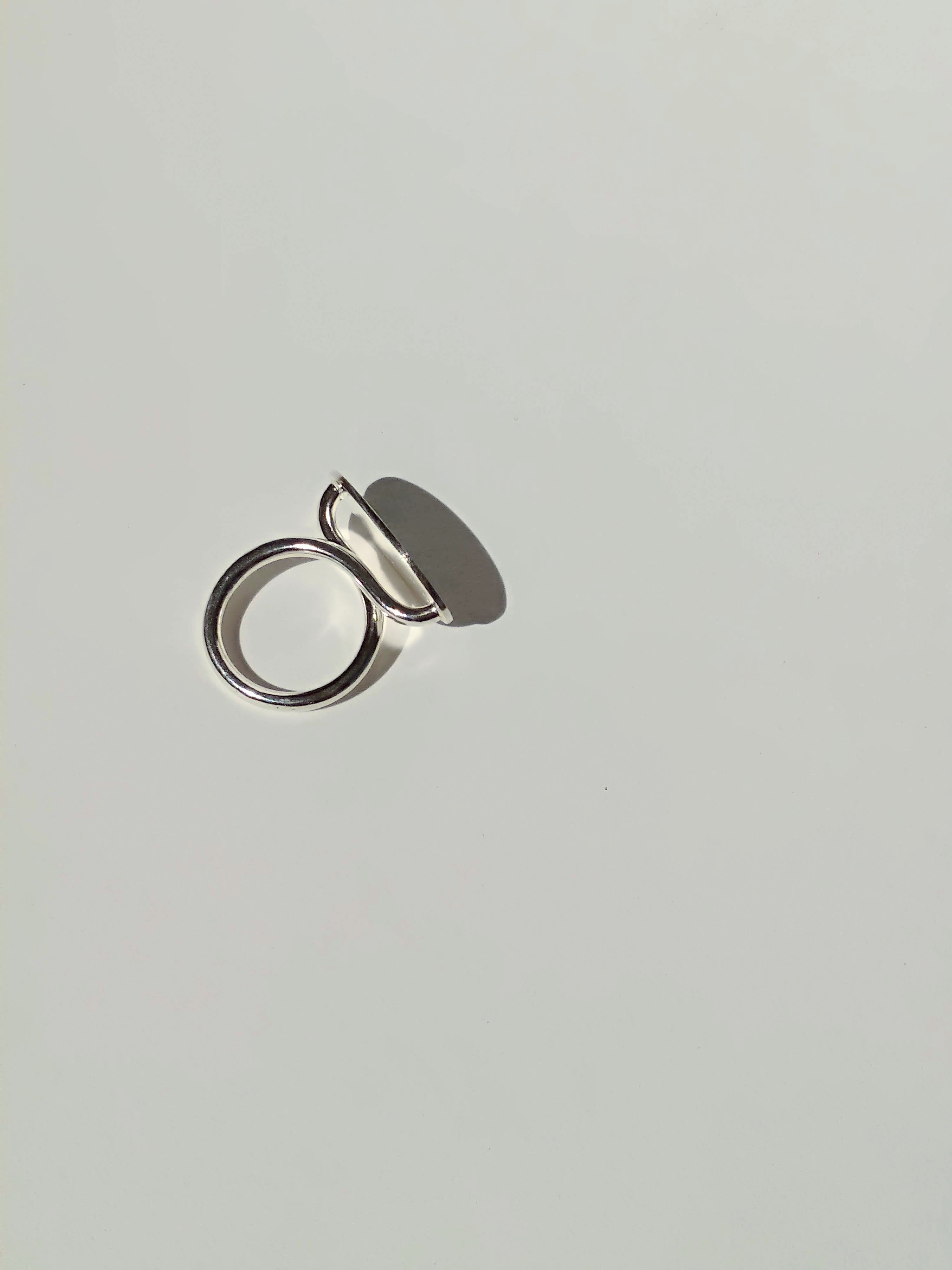 Sterling Silver Oval Mirror Ring