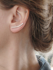 Sterling Silver Curved Bar Ear Climber
