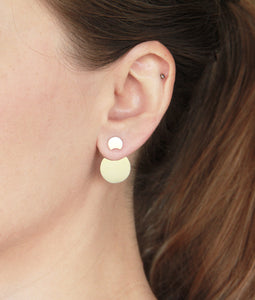 Sterling Silver Lunar Ear Jackets