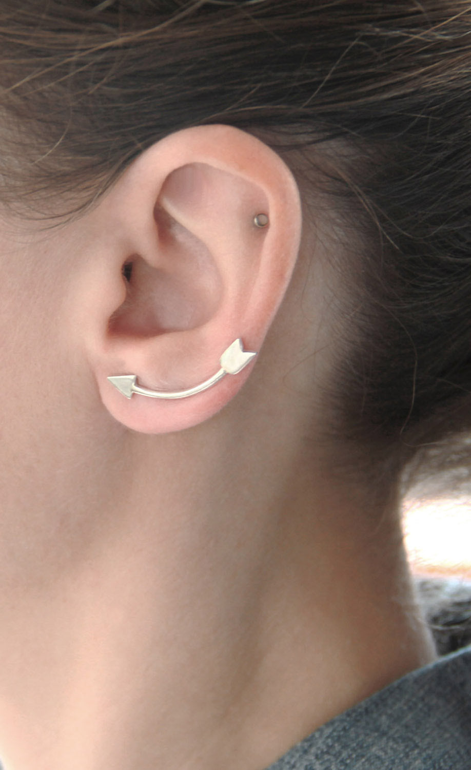Sterling Silver Arrow Ear Climbers