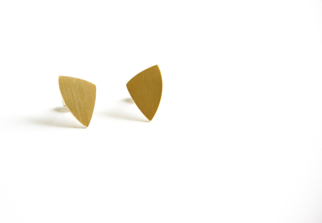 24K Gold Plated Sterling Silver Lotus Post Earrings