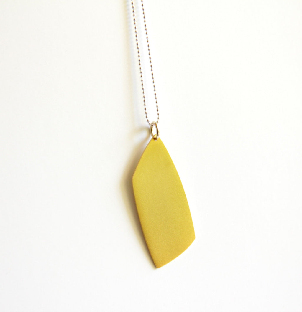 24K Gold Plated Sterling Silver Geometric Pendant Necklace