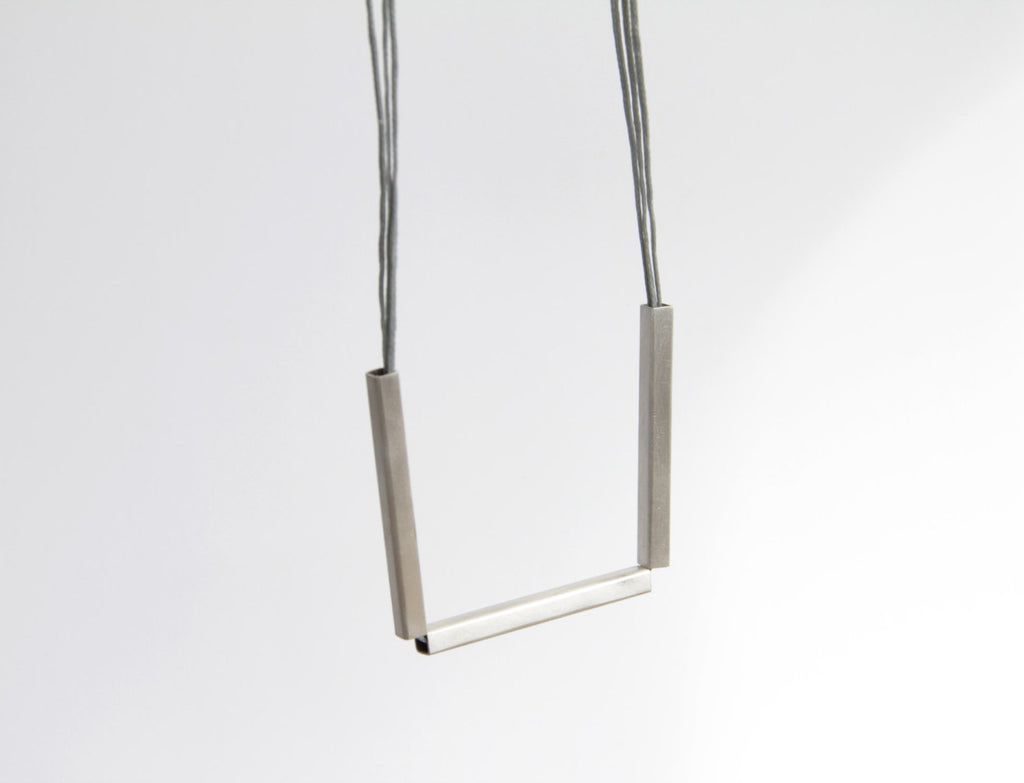 Sterling Silver Triple Bar Necklace
