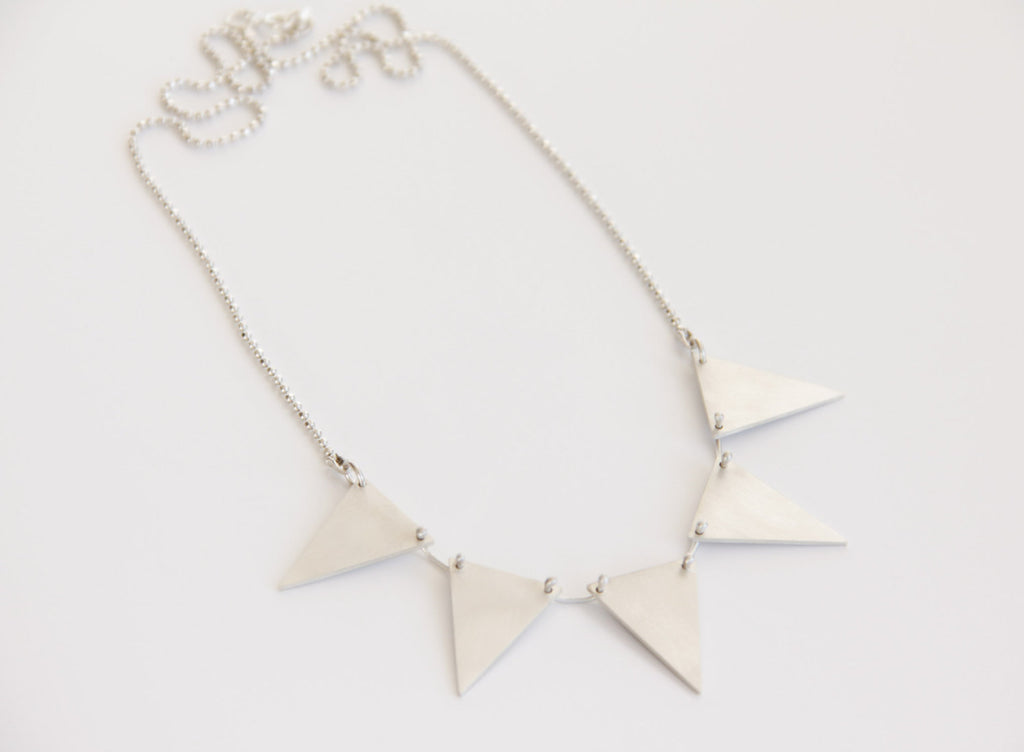 Sterling Silver Triangle Garland Necklace