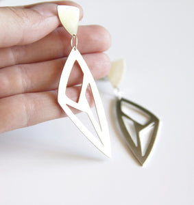 Sterling Silver Triangle Cutout Earrings