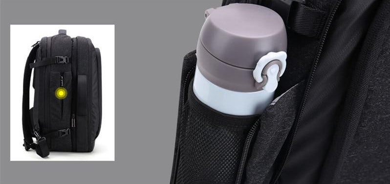 Collapsible, Zippered Water Bottle Pocket