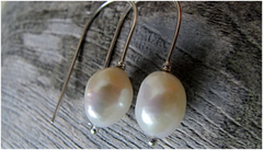 LILLY PEARL SILVER EARRINGS - Pure Silver And Lilly Pearl Earrings