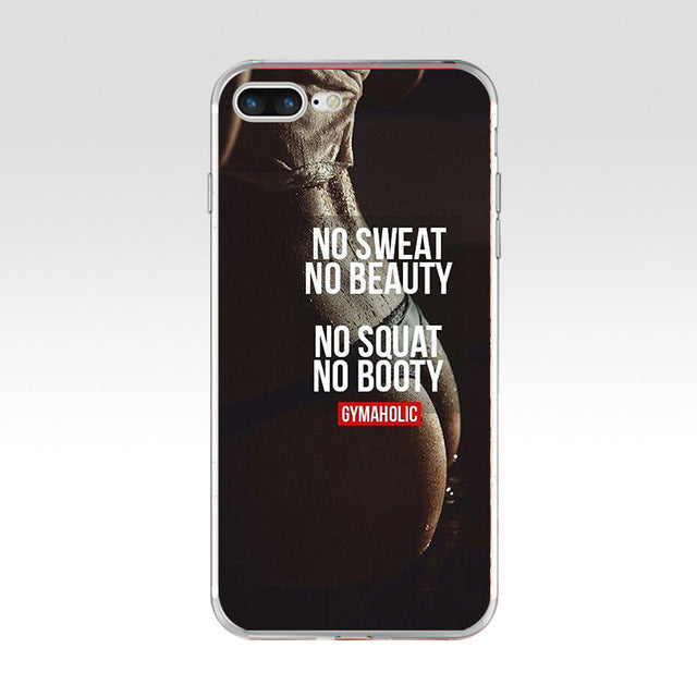 No Squat No Booty Phone Case For iPhone