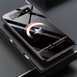 Marvel Captain America Glass Phone Case For Samsung Galaxy
