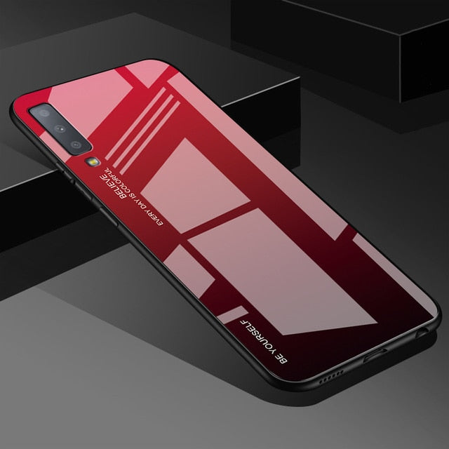 Gradient Tempered Glass Case For Samsung Galaxy