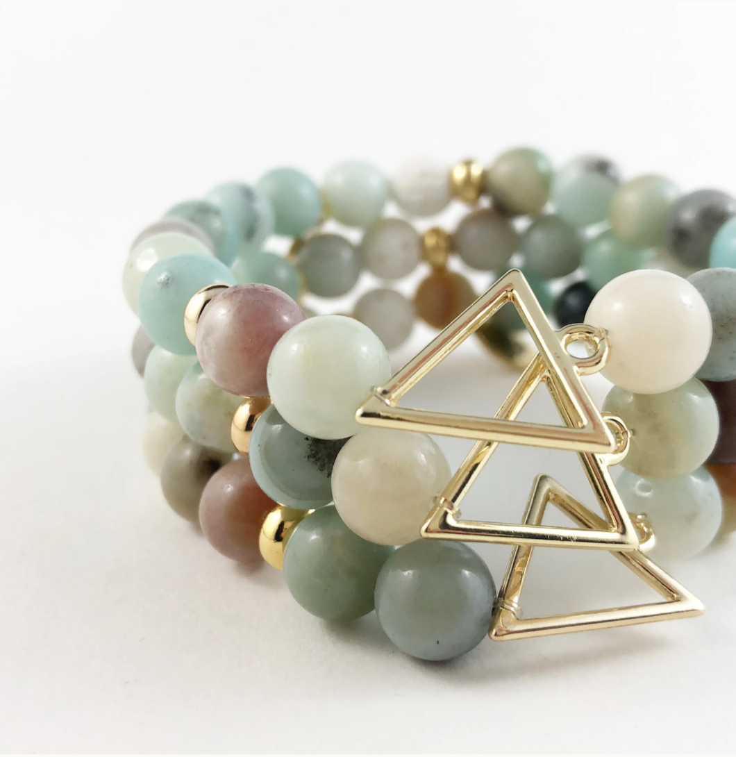 Amazonite Gold Arrow Diffuser Bracelet