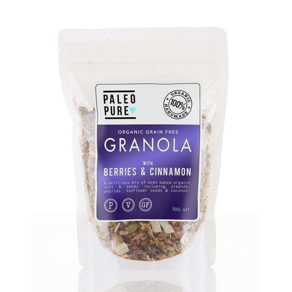 Paleo Pure Organic Granola with Berries & Cinnamon 300g