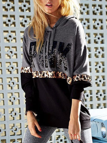 Leopard Stitching Hooded Sweater