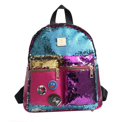 Colorful sequins decorative backpack
