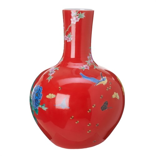 ball body vase red Decoratie Kavel 84 Woonwinkel