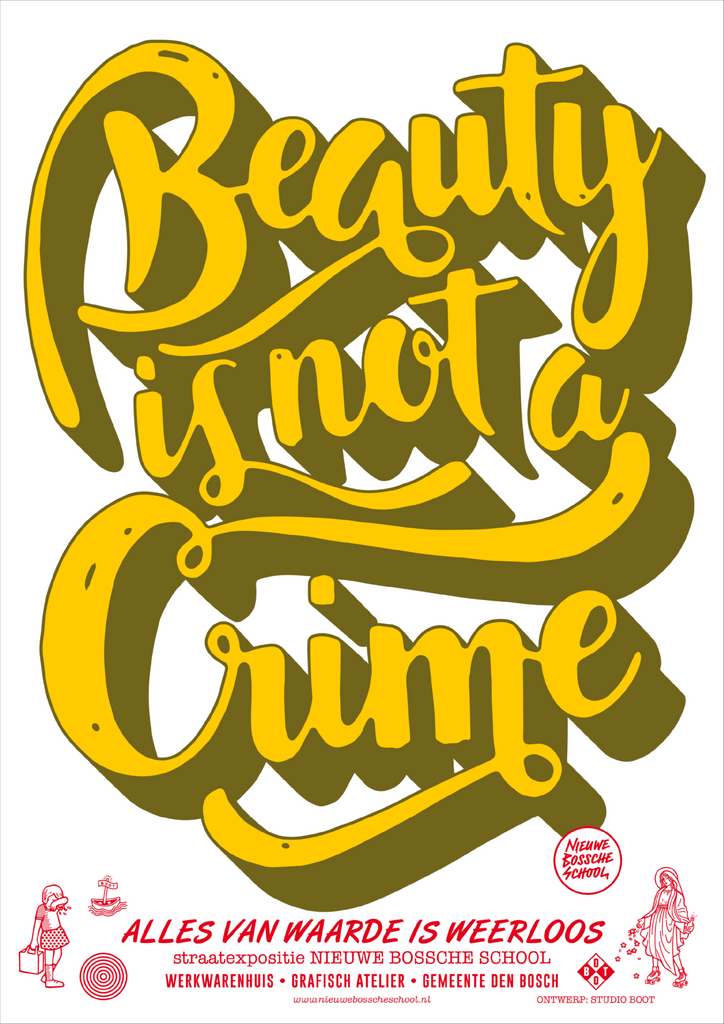 Poster Beauty is not a Crime yellow