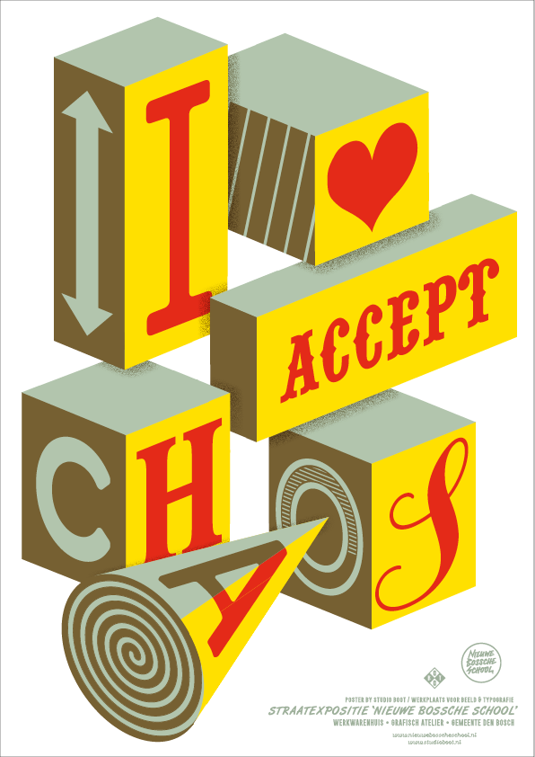 Poster I Accept Chaos - , Poster, [variant_title] [Kavel 84 woonwinkel Waalwijk], [variant_title], [option1], [option2], [option3]