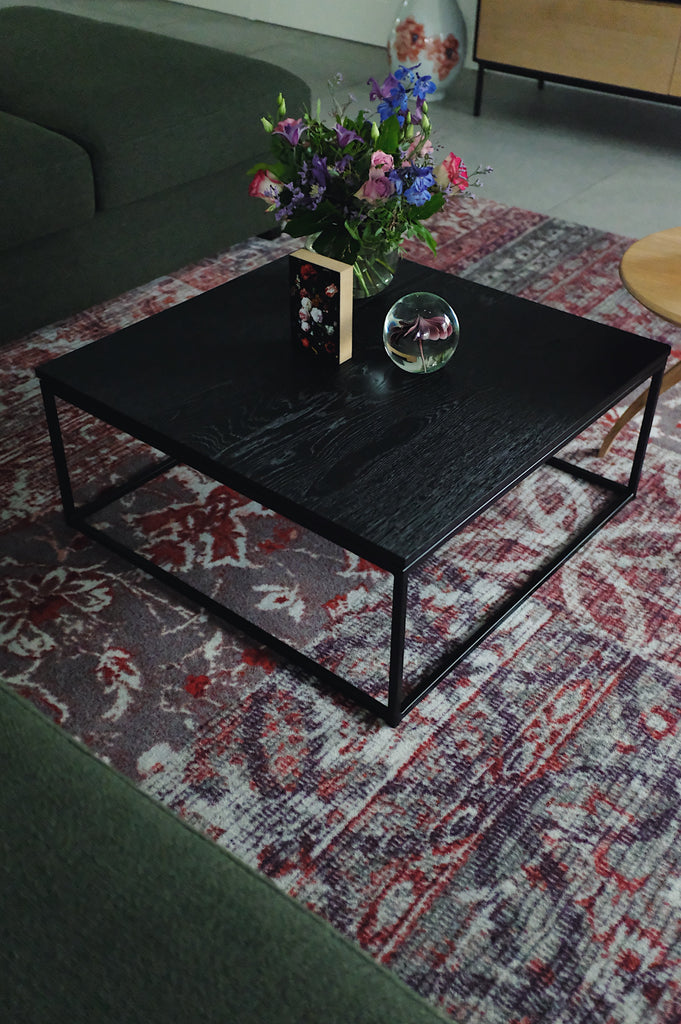 Oak Thin Coffee Table Black Tafels Kavel 84 Woonwinkel