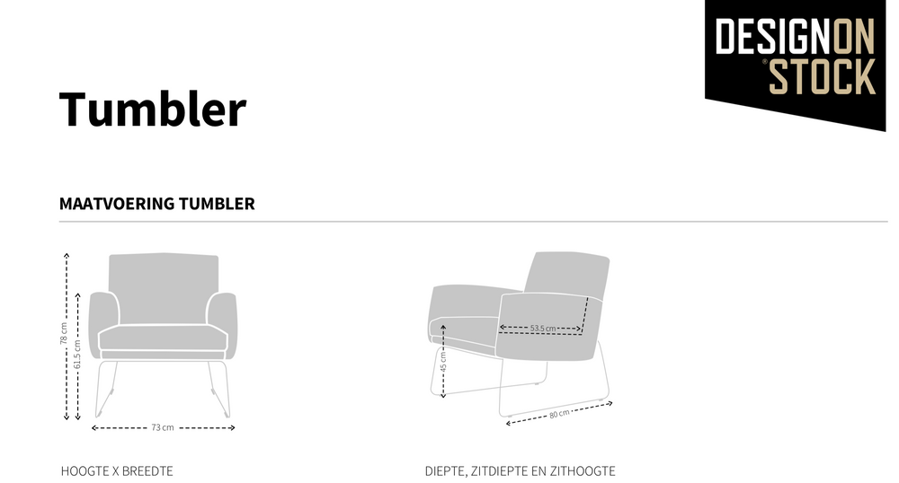 Design on Stock Tumbler fauteuil leer