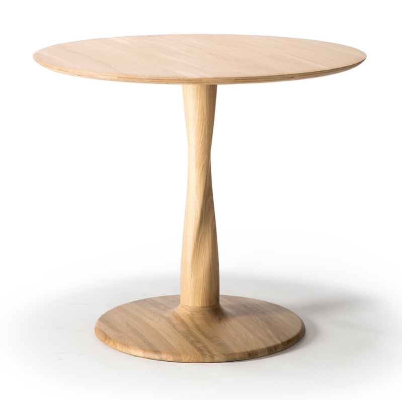 Ethnicraft Eettafel Torsion rond
