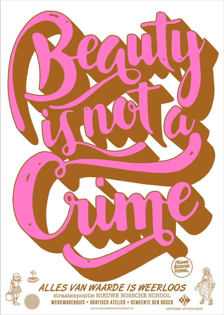 Poster Beauty is not a Crime - , Poster, [variant_title] [Kavel 84 woonwinkel Waalwijk], [variant_title], [option1], [option2], [option3]