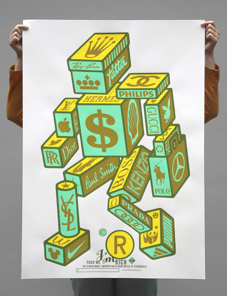 Poster F*ck me I'm Rich Poster Kavel 84 Woonwinkel