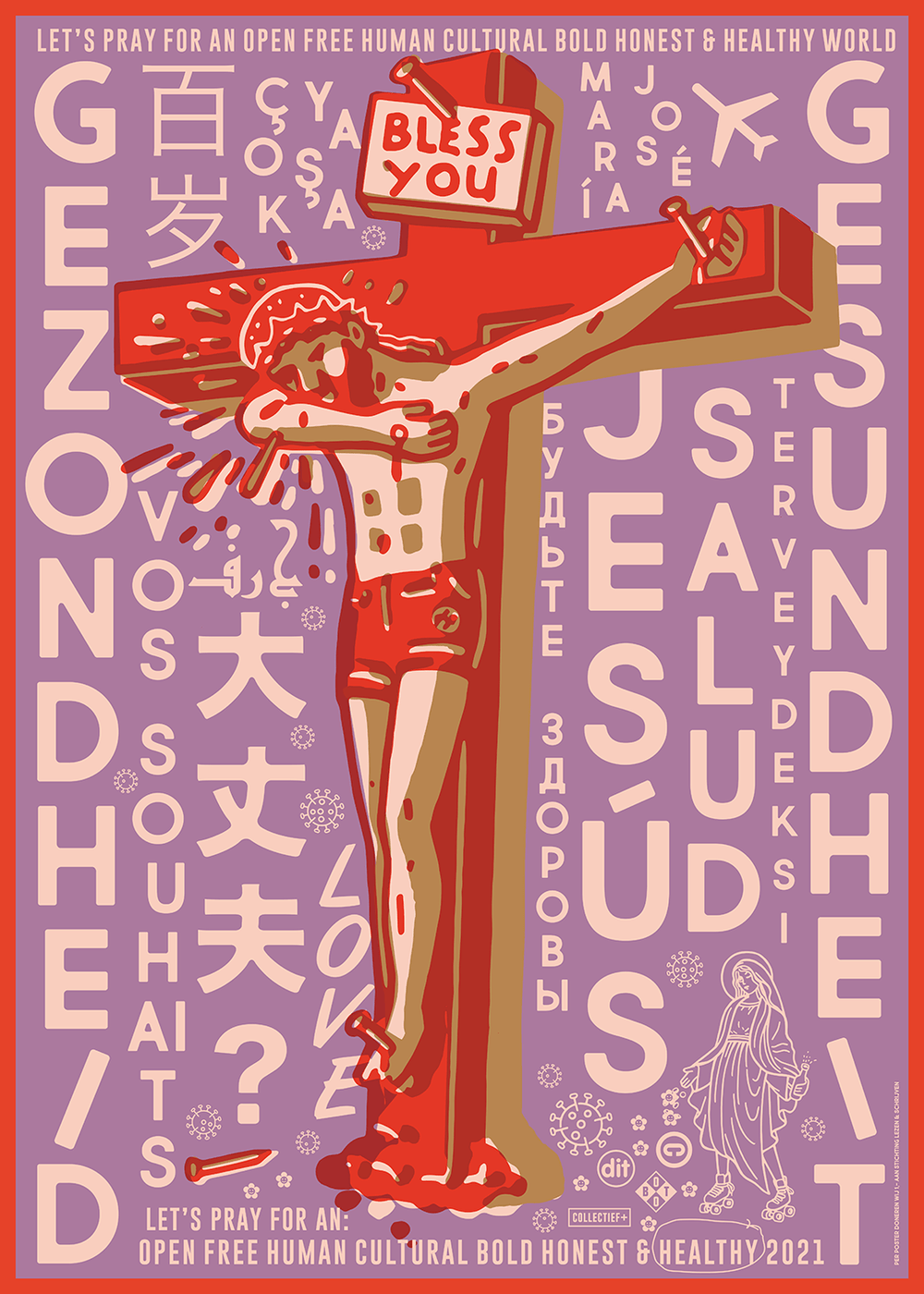 Poster Moderne Jezus - Time for Miracles | Collectief+