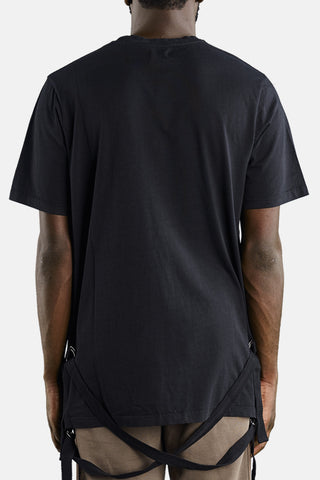 "STRAPED T-SHIRT ""BLACK"""