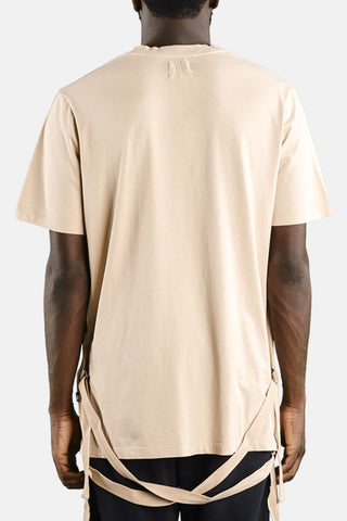 "STRAPED T-SHIRT ""NUDE"""