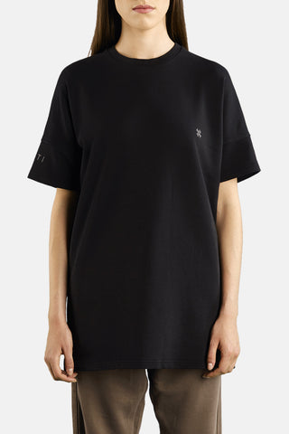 "OVERSIZED SHORT SLEEVE SWEATSHIRT ""BLACK"""