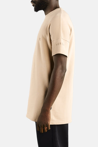 "OVERSIZED SHORT SLEEVE SWEATSHIRT ""NUDE"""