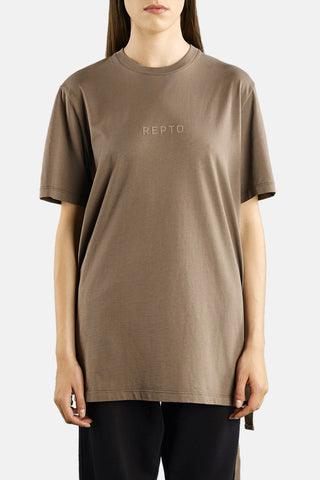 "STRAPED T-SHIRT ""SAND"""