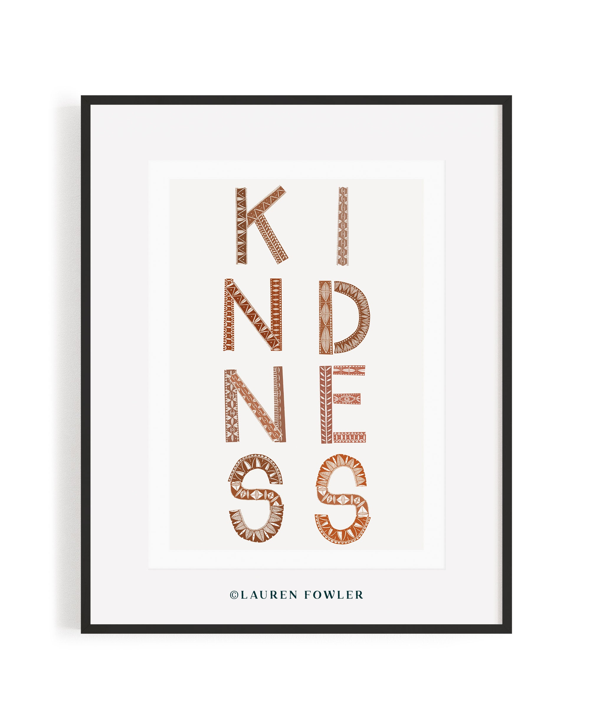 A2 Kindness Art print earth colour
