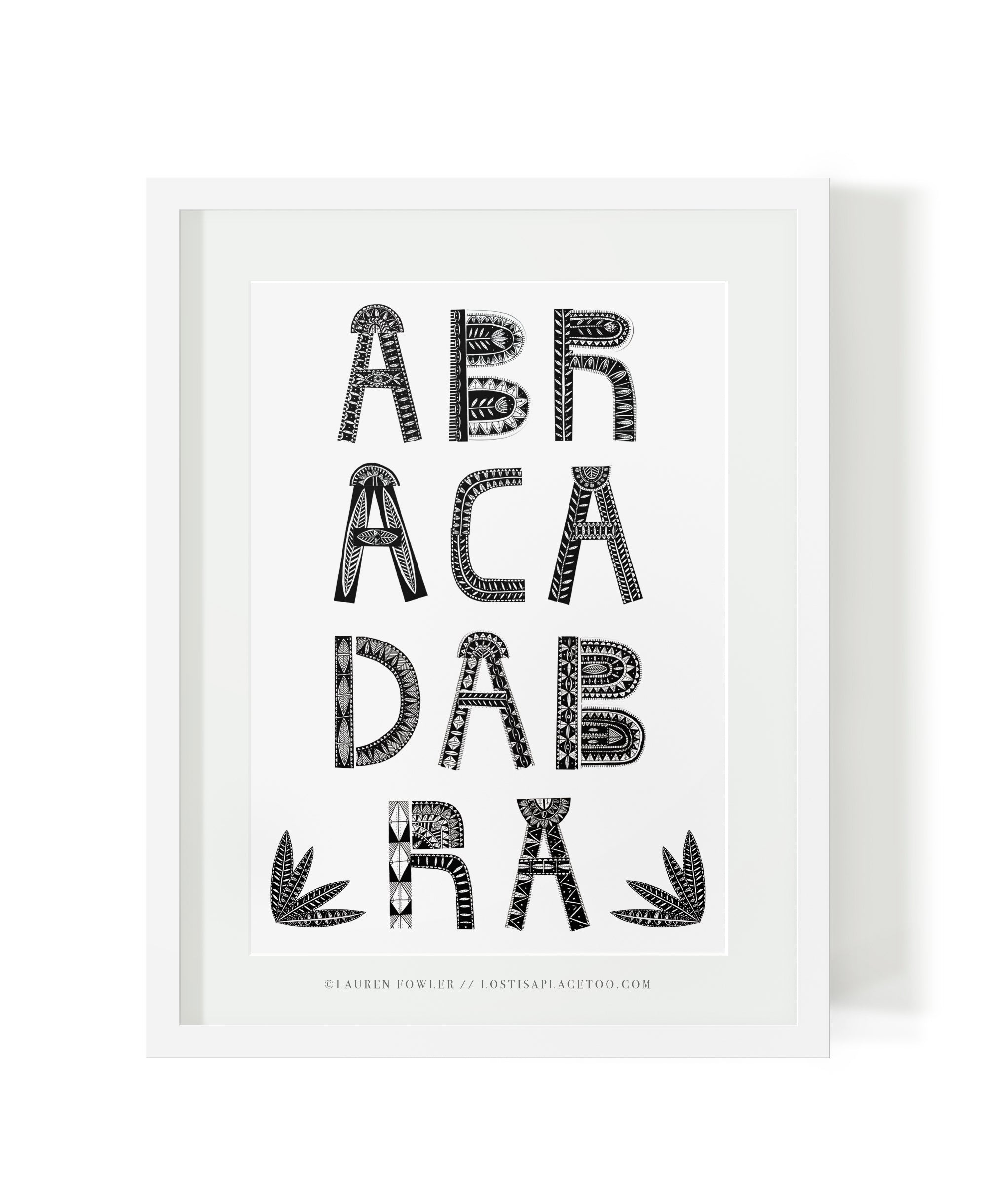 Abracadabra illustrated artwork by Lauren Fowler