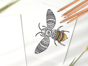 Colouring in Page - Bee