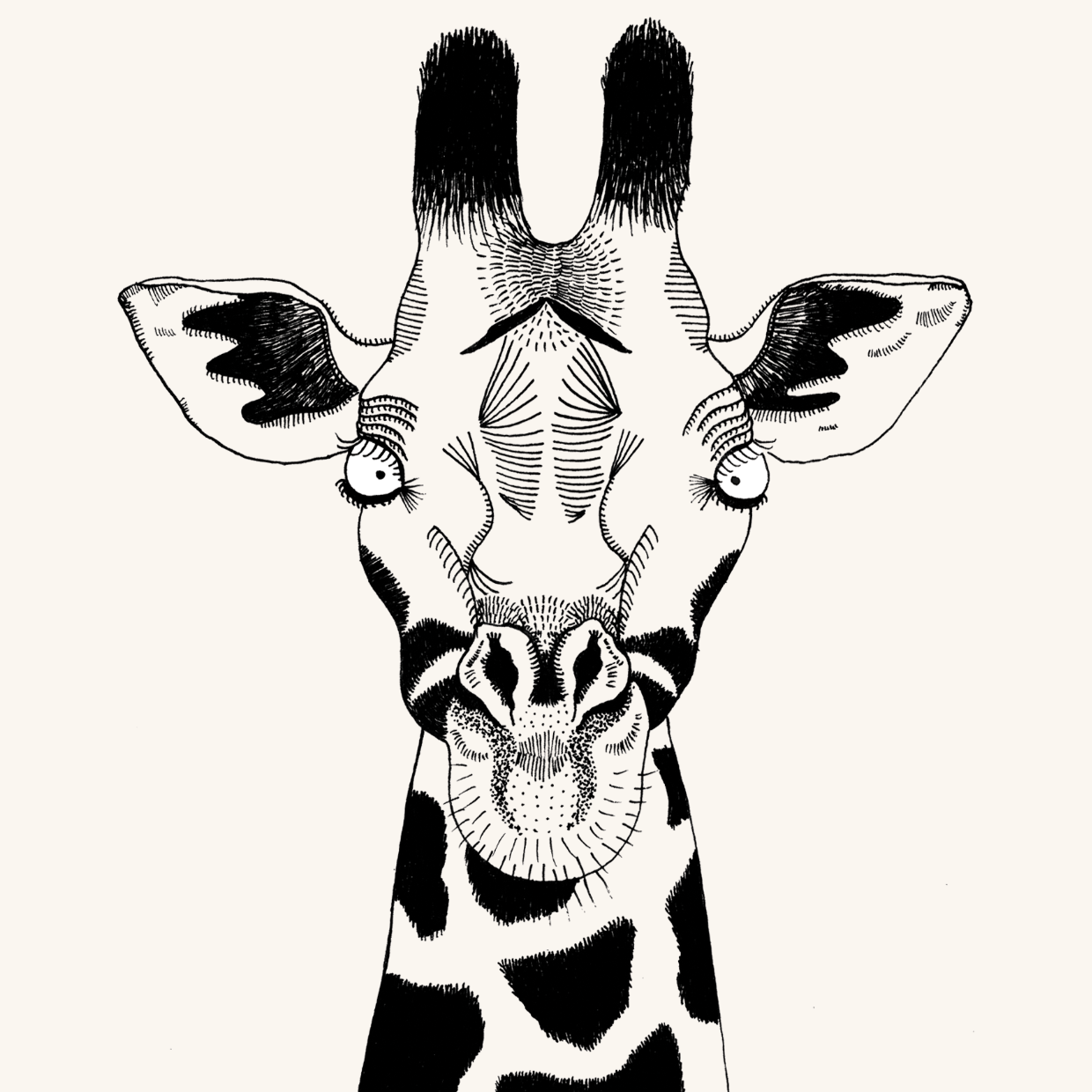 Cheetah and Giraffe people as animals illustrated artwork by Lauren Fowler