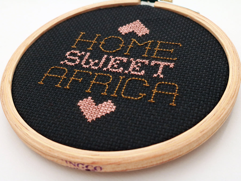 Home sweet Africa DIY cross stitch kit
