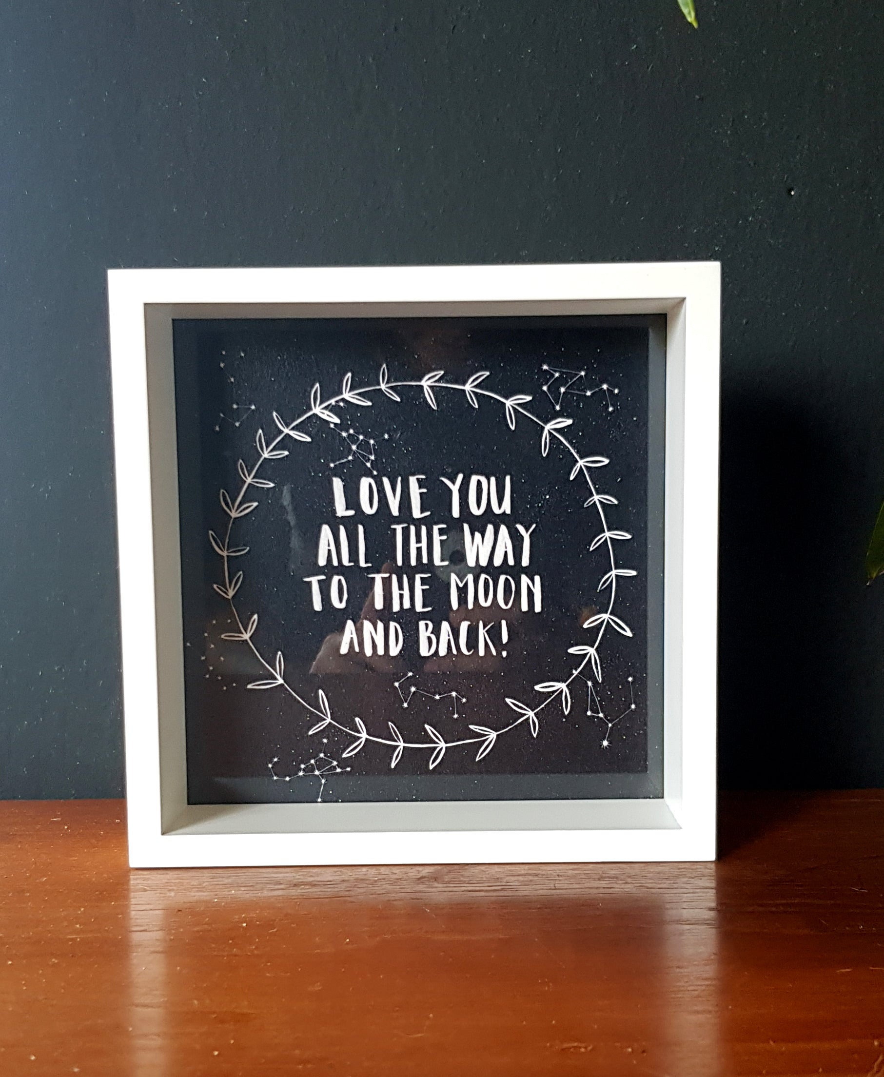 Framed Love you to the moon and back