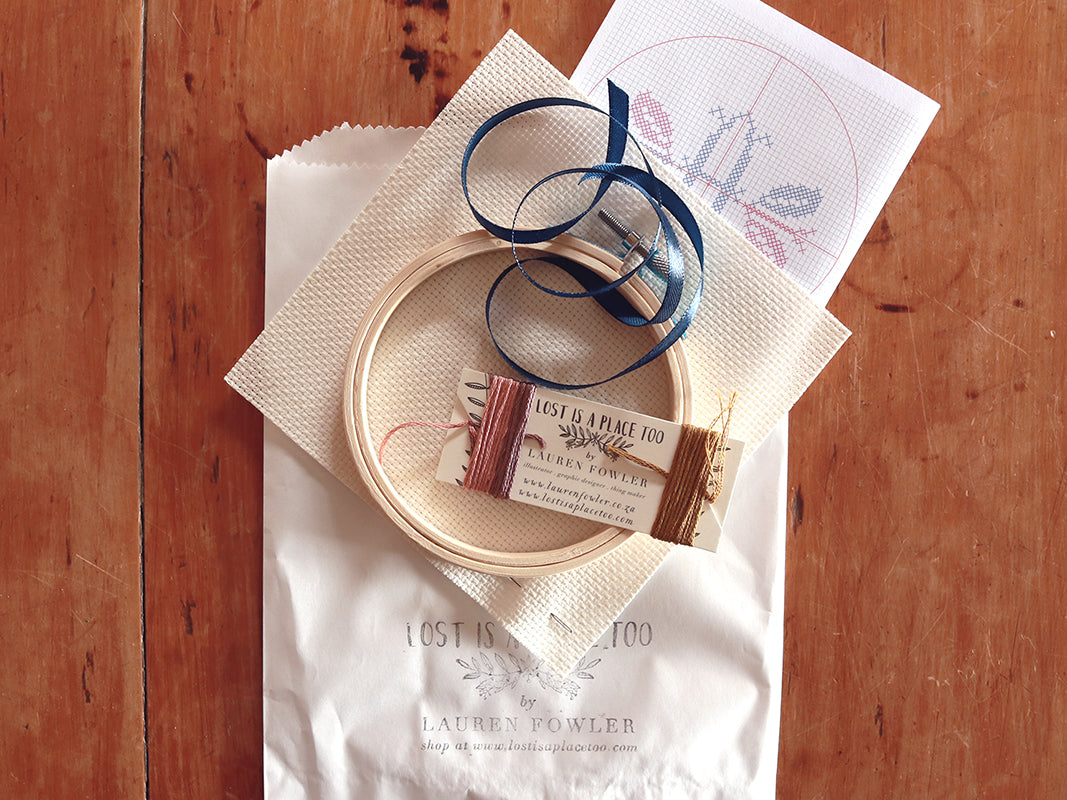 MONOGRAM DIY X-STITCH KIT
