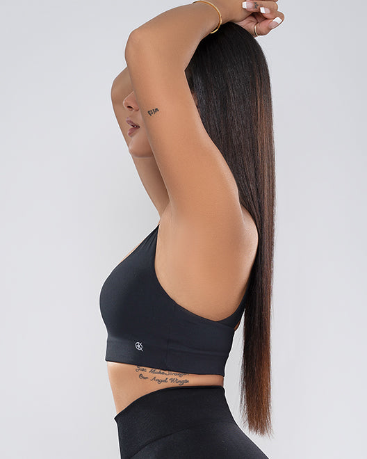 The Cross-Back Bra | BLACK