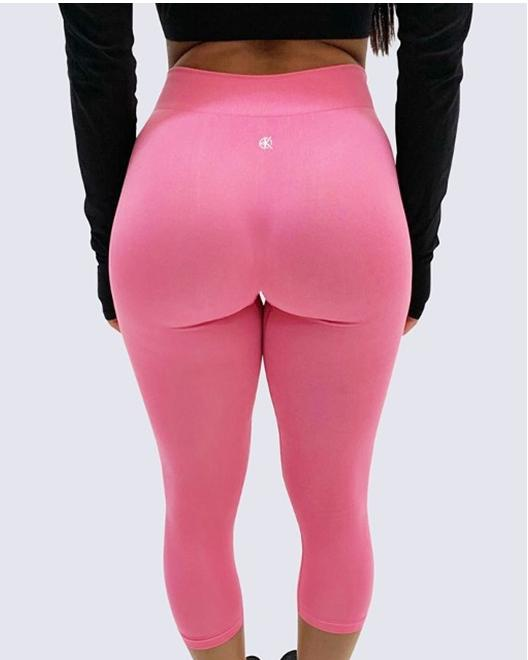 Mid-Rise Summer Leggings | BUBBLEGUM PINK