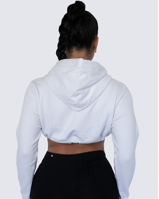 Cropped Hoodie | WHITE