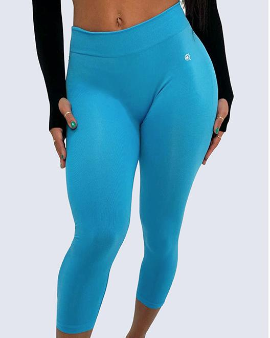 Mid-Rise Summer Leggings | SKY BLUE