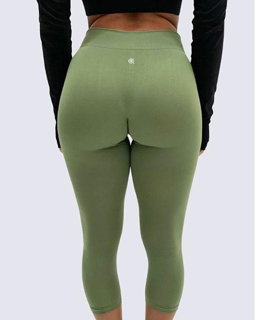 Mid-Rise Summer Leggings | OLIVE GREEN