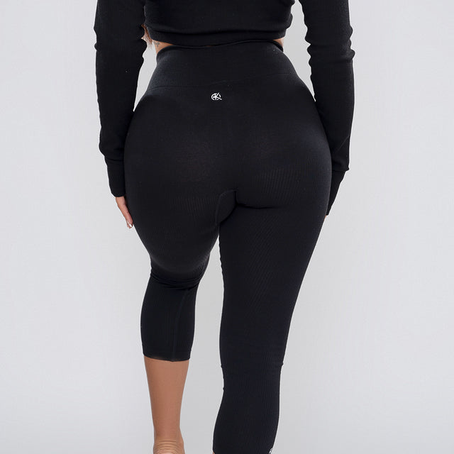 Classic Ribbed Leggings | BLACK