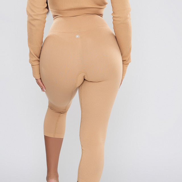 Classic Ribbed Leggings | TAN