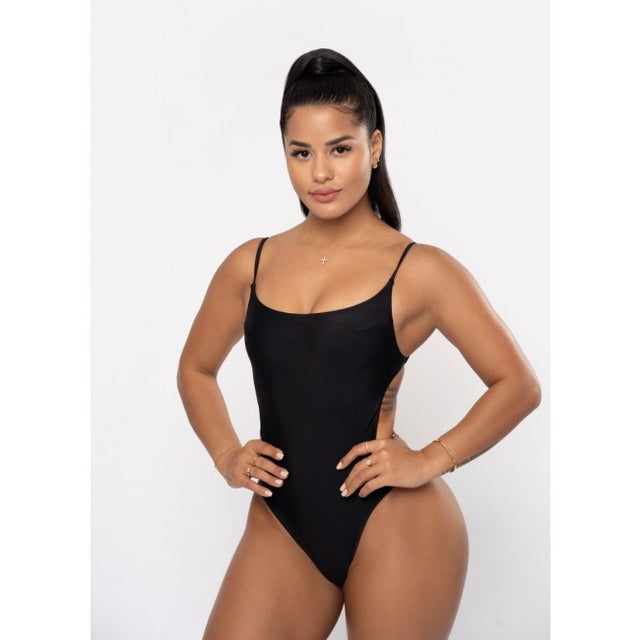 Square Back One Piece | BLACK