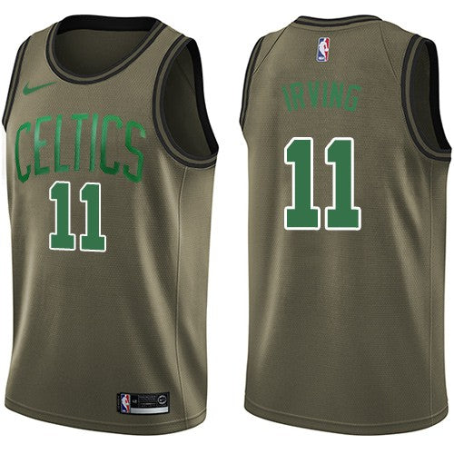 d5adf6cbe Boston Celtics  11 Kyrie Irving Green Salute To Service NBA Swingman Jersey  2018-2019