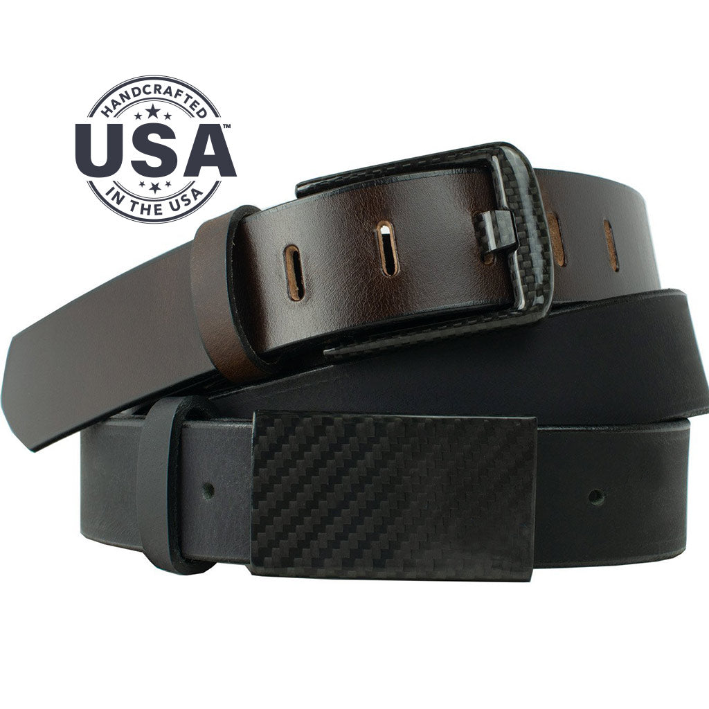 Zero Metal Belt Duo By Nickel Smart® | Nonickel.com, genuine leather, made in the USA