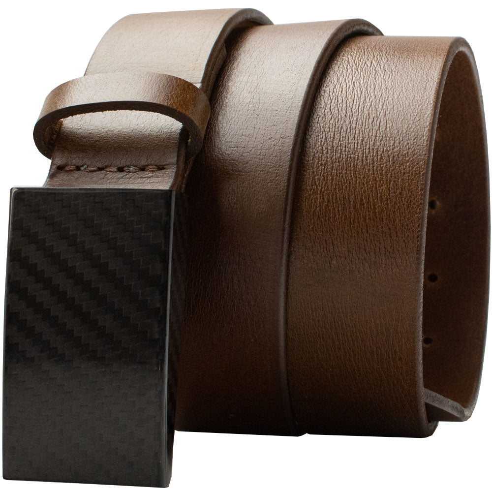 CF 2.0 Brown Belt By Nickel Smart® | Nonickel.com, no metal, TSA Friendly